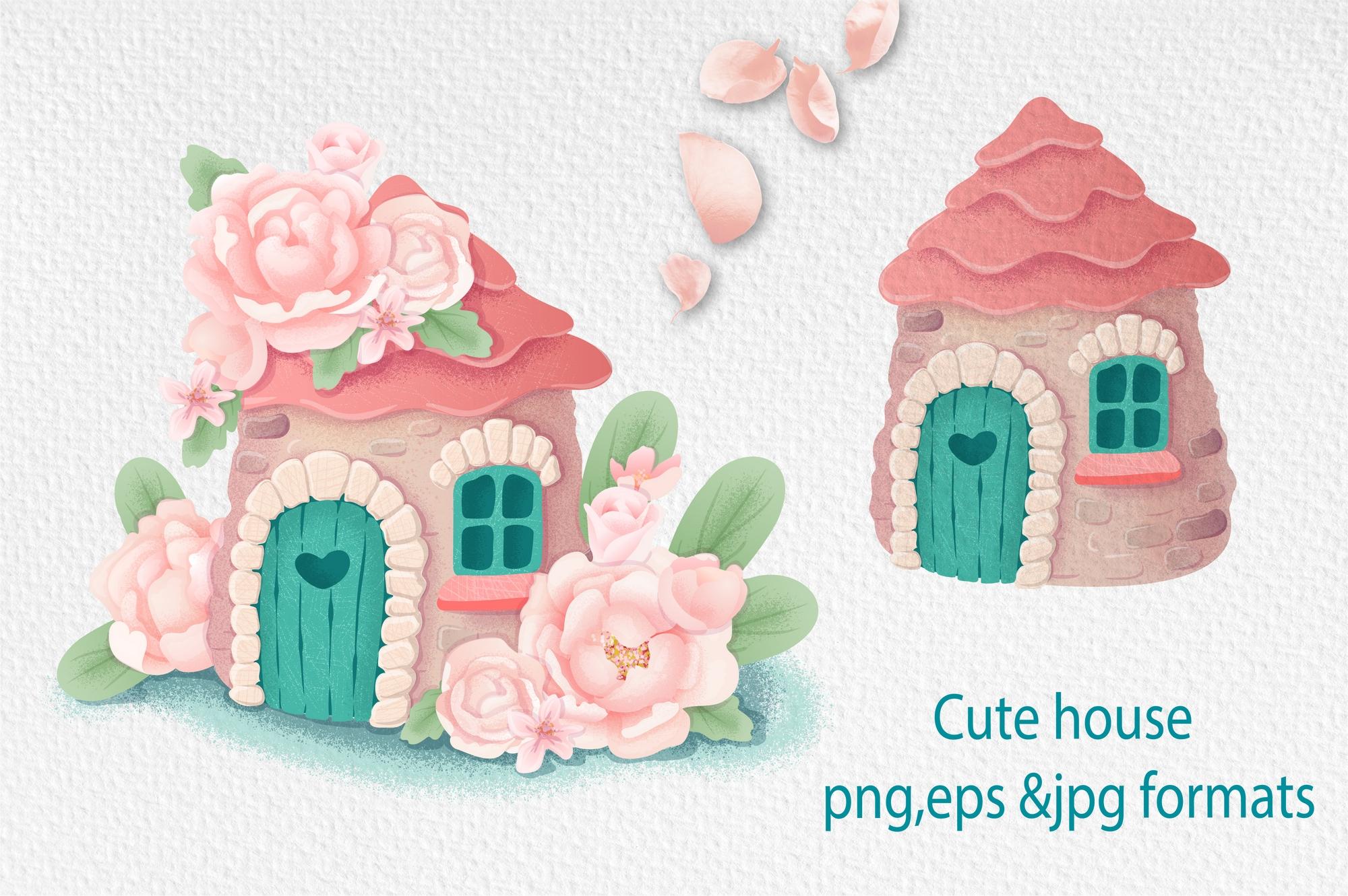 可爱小马公主花卉大写字母手绘剪贴画集 Cute Pony Princess插图(3)