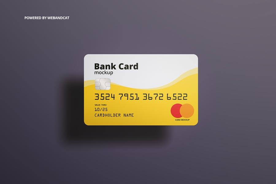 7个高质量银行&会员卡设计展示图样机模板 Bank / Membership Card Mockup插图(3)