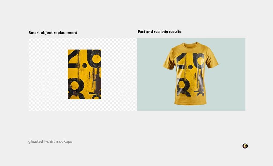 4款T恤衫设计展示图样机模板 T-shirt Mockup插图(3)