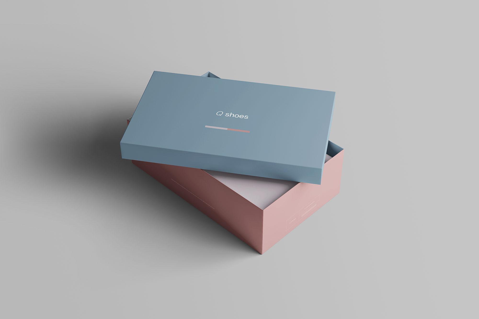 7个高品质纸质鞋盒外观设计预览图样机模板 Shoe Box Mockup插图(3)