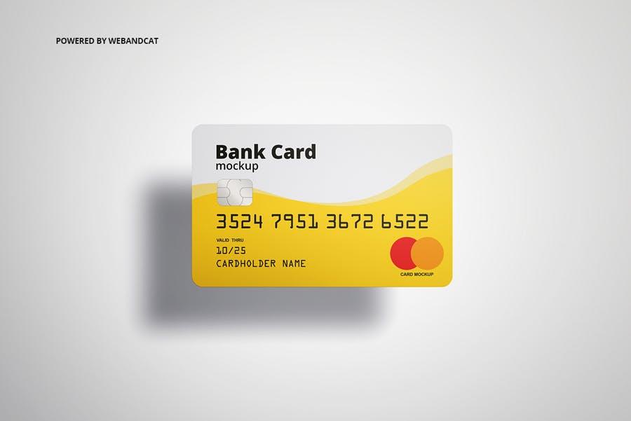 7个高质量银行&会员卡设计展示图样机模板 Bank / Membership Card Mockup插图(4)