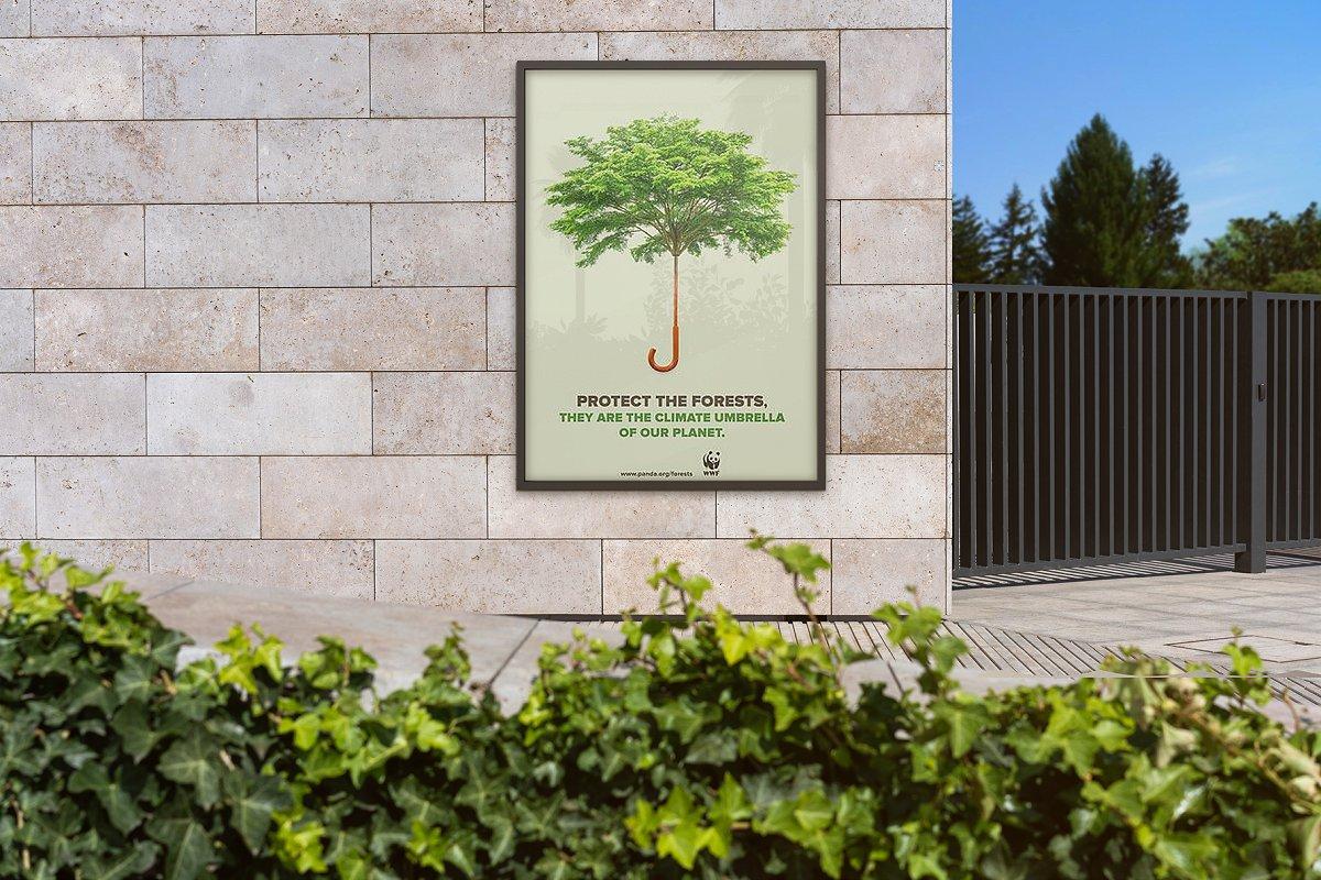 户外墙贴海报传单设计效果图样机模板 Outside Poster Mockup's插图(7)