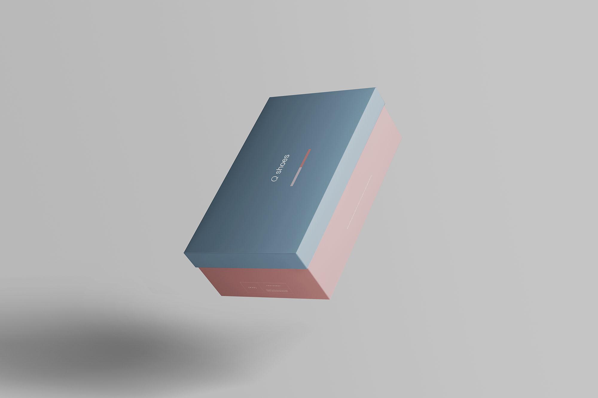 7个高品质纸质鞋盒外观设计预览图样机模板 Shoe Box Mockup插图(6)