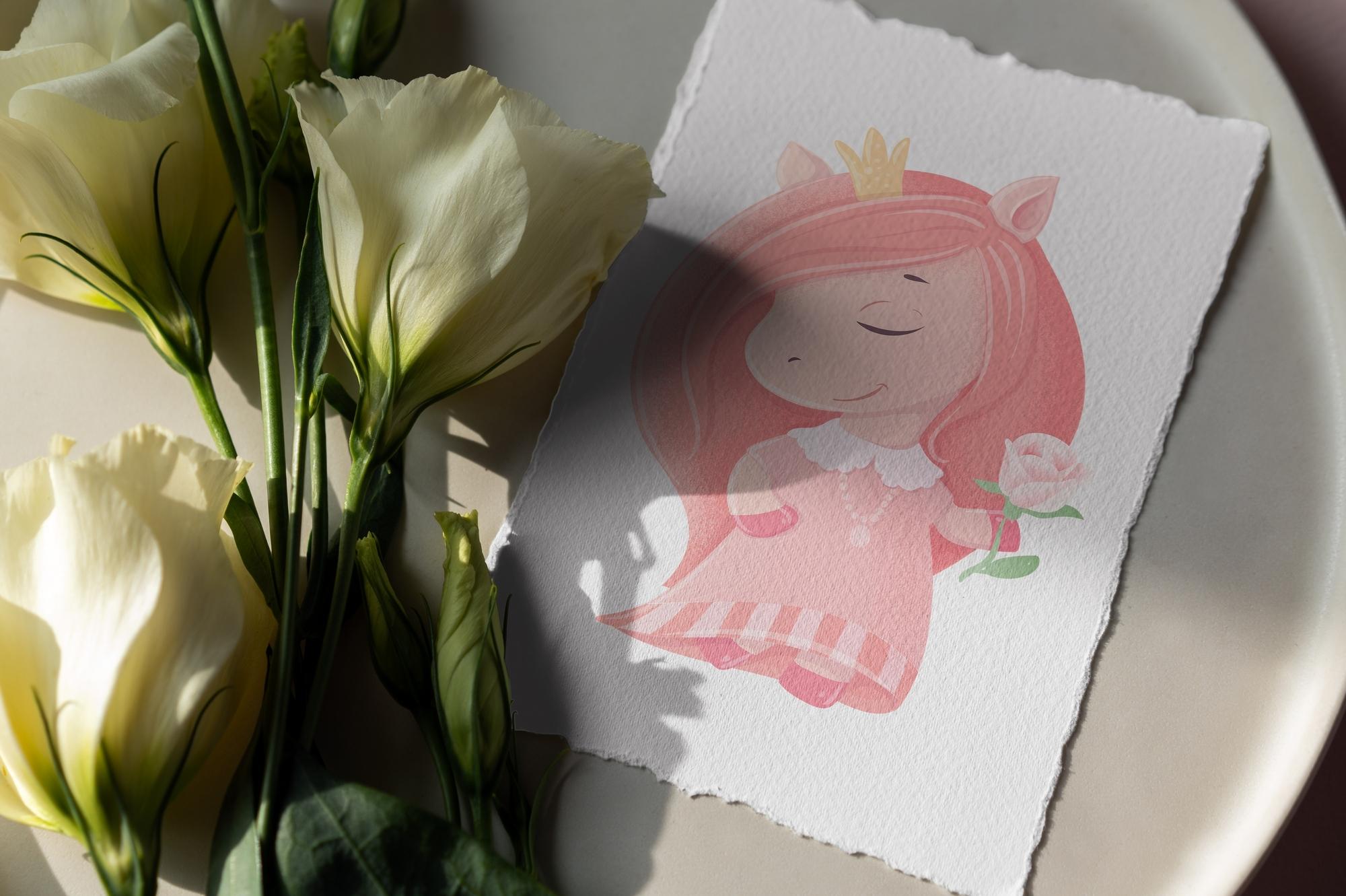可爱小马公主花卉大写字母手绘剪贴画集 Cute Pony Princess插图(6)