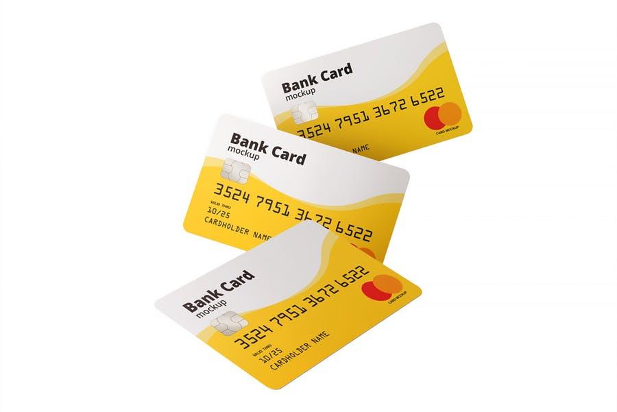 7个高质量银行&会员卡设计展示图样机模板 Bank / Membership Card Mockup插图(6)