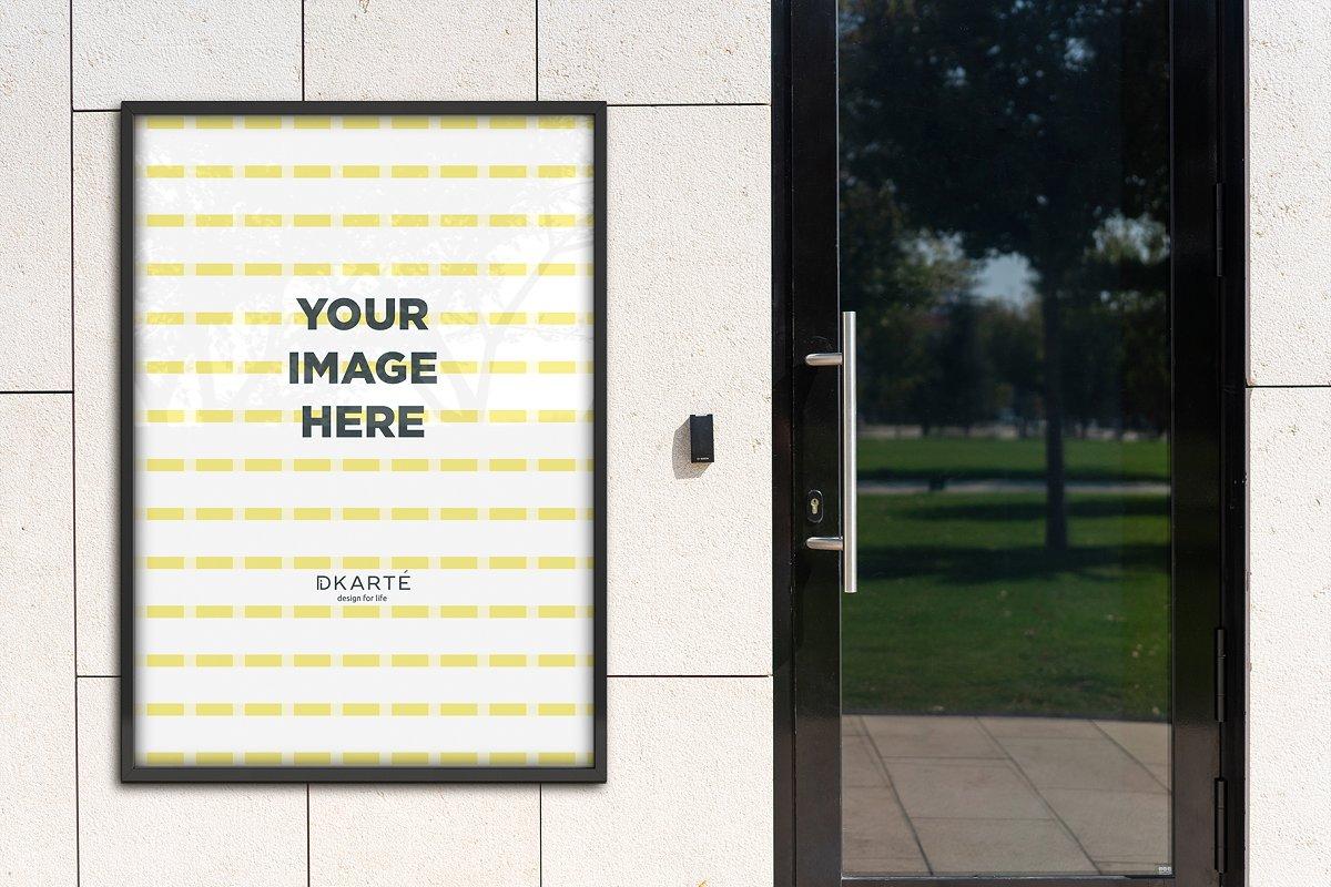户外墙贴海报传单设计效果图样机模板 Outside Poster Mockup's插图(8)