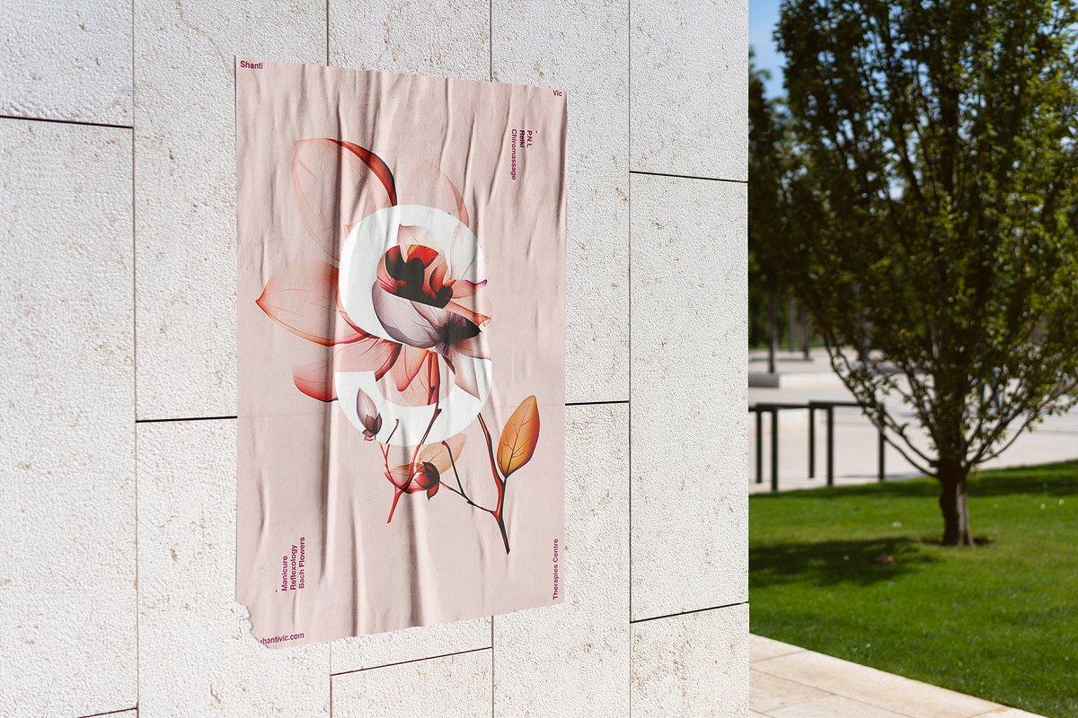 户外墙贴海报传单设计效果图样机模板 Outside Poster Mockup's插图(9)