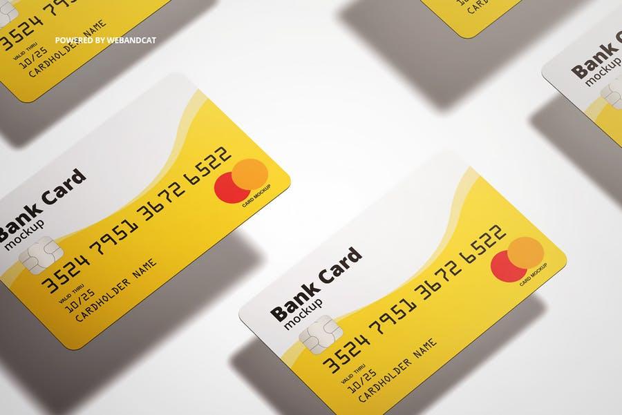 7个高质量银行&会员卡设计展示图样机模板 Bank / Membership Card Mockup插图(9)