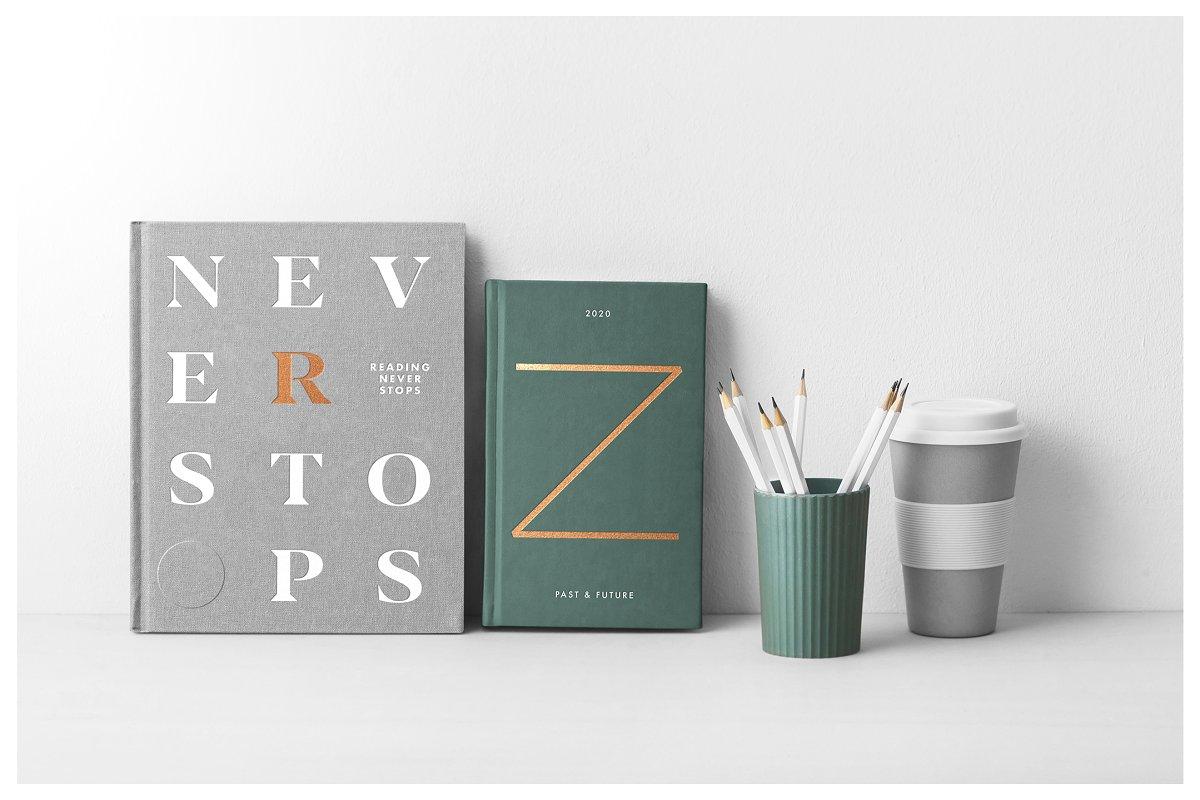逼真精装书籍画册封面设计展示图样机模板 Book Cover Mockups – Hardcover Book插图(4)