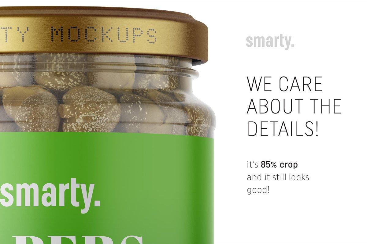 橄榄果罐头玻璃瓶外观设计样机模板 Olives Jar Mockup插图(3)