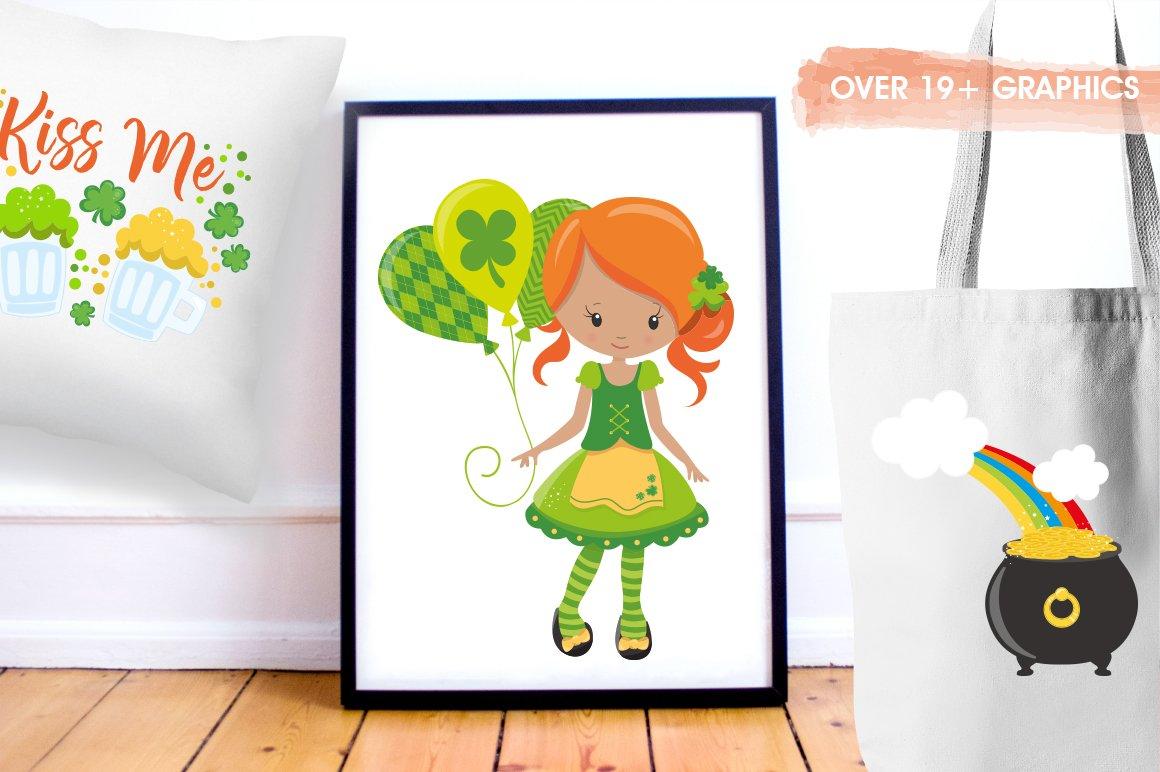 有趣手绘圣帕特里克节情人节剪贴画设计素材 Love, St Patrick's Day插图(4)