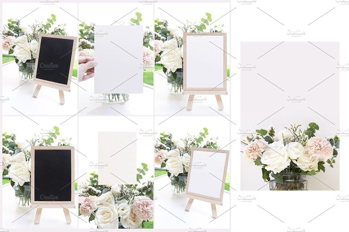 婚礼贺卡邀请函文具设计展示图样机模板套装 Wedding Stationery Mockup Bundle插图(3)
