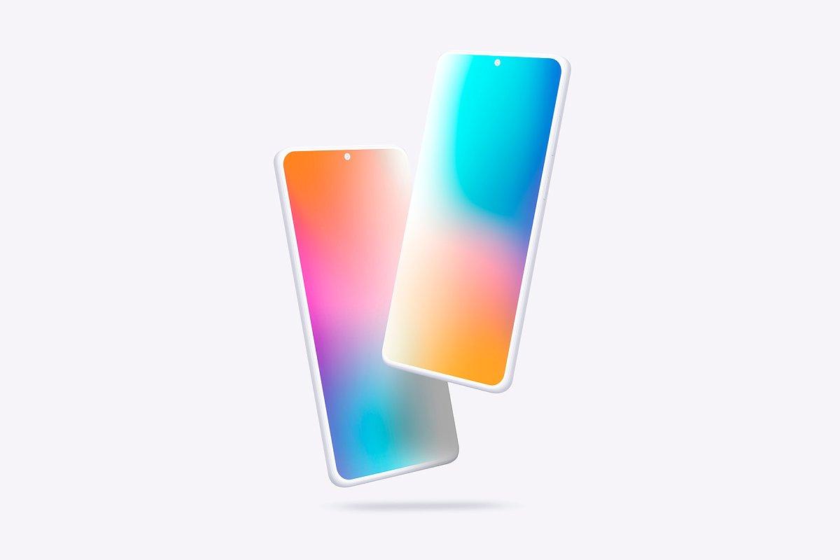 20个陶瓷粘土三星Galaxy S20手机屏幕演示PSD样机模板 Galaxy S20 – 20 Mockups Clay Scenes插图(12)