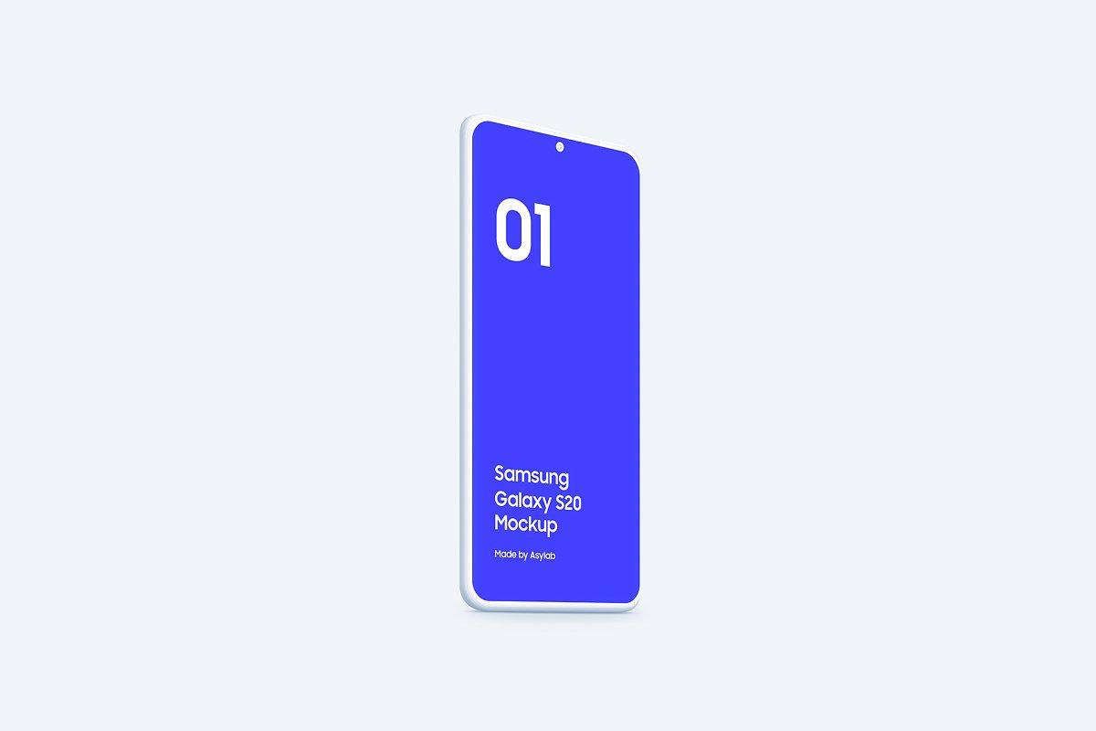 20个陶瓷粘土三星Galaxy S20手机屏幕演示PSD样机模板 Galaxy S20 – 20 Mockups Clay Scenes插图(30)