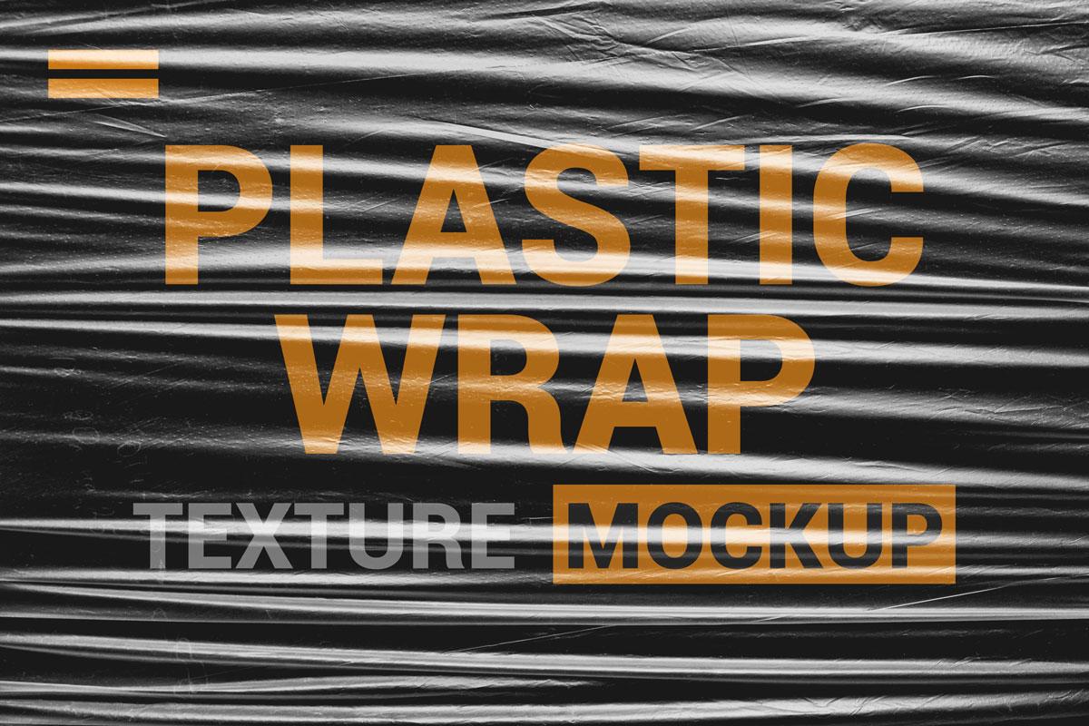 9款透明塑料薄膜展示样机模板素材 Stretch Plastic Wrap Film Mockup插图(3)