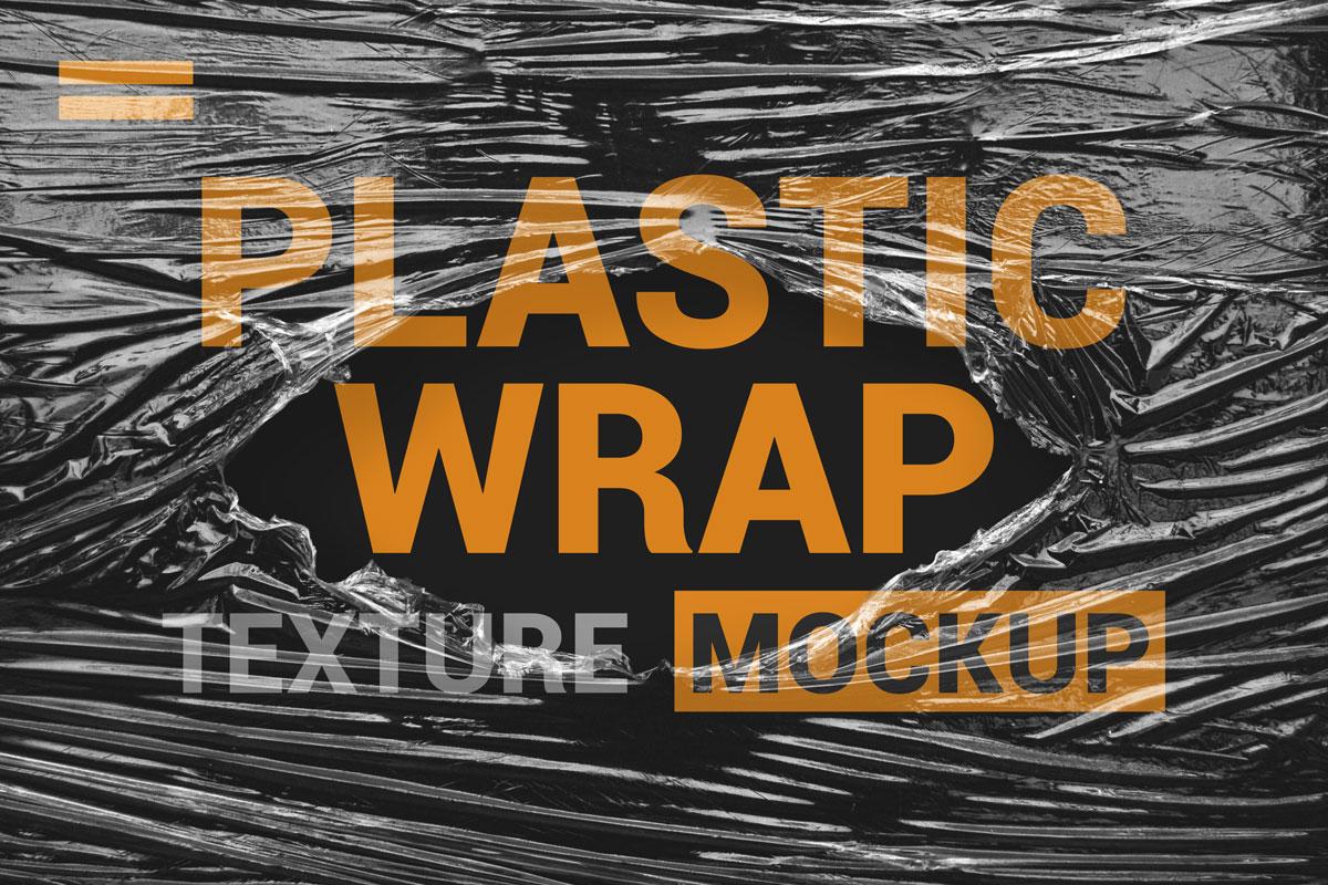 9款透明塑料薄膜展示样机模板素材 Stretch Plastic Wrap Film Mockup插图(6)