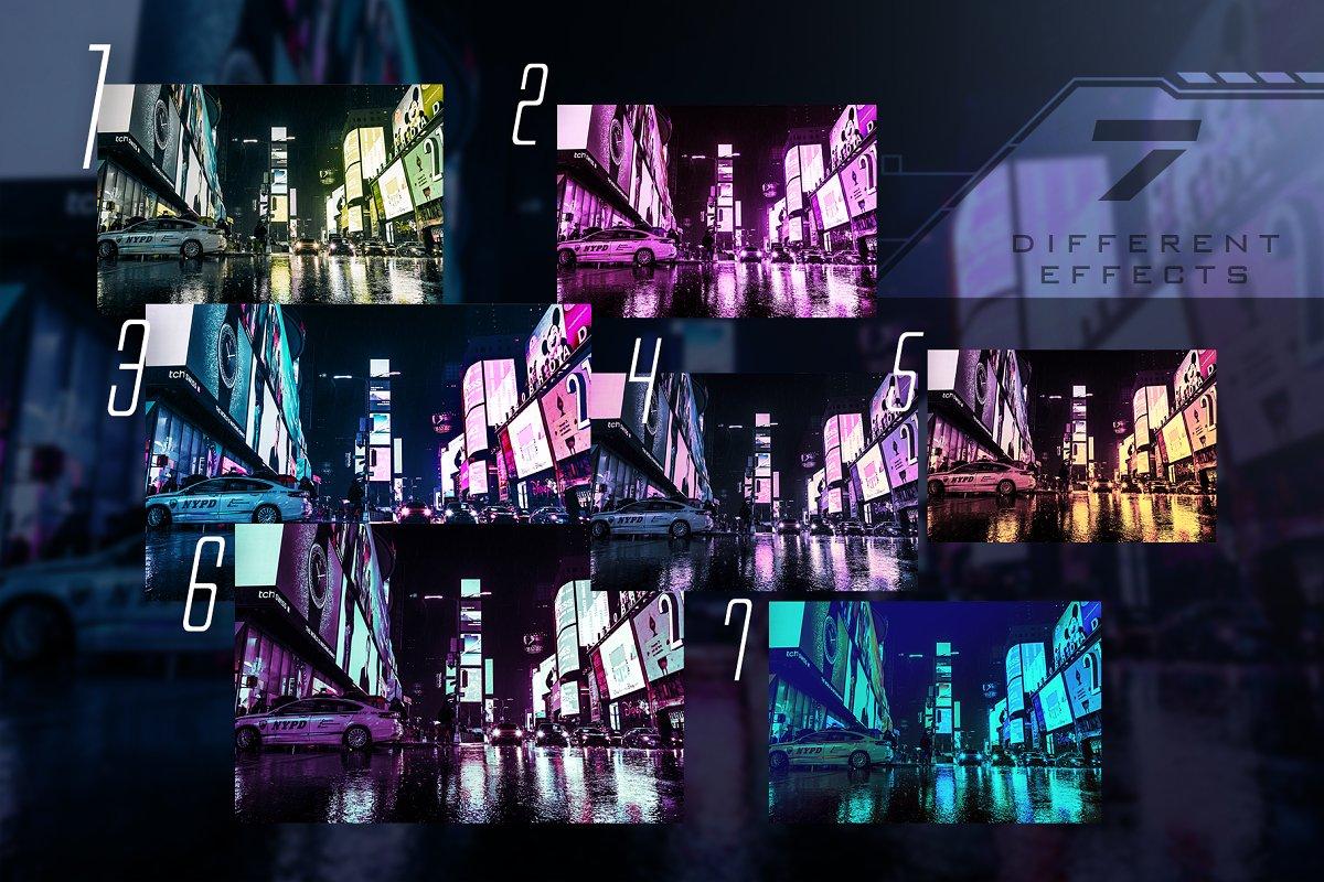 赛博朋克风格照片后期处理效果PS动作 Cyberpunk | Photoshop Effects插图(1)
