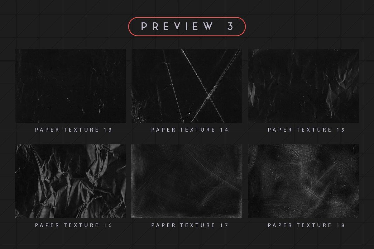 30款黑色褶皱粗糙纸张纹理 Black Paper Textures插图(9)