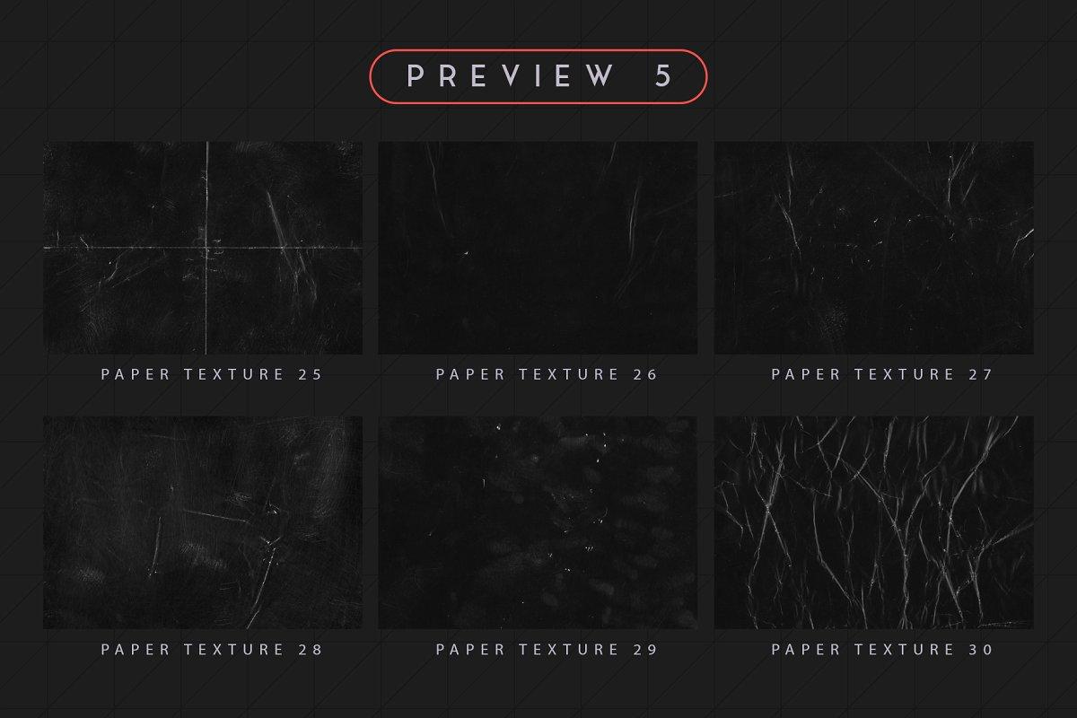 30款黑色褶皱粗糙纸张纹理 Black Paper Textures插图(11)