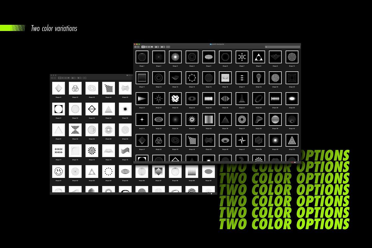 [淘宝购买] 100款潮流抽象矢量几何图形设计素材 Abstract Shapes: 100 Design Elements插图(15)