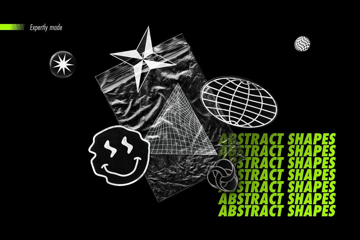 [淘宝购买] 100款潮流抽象矢量几何图形设计素材 Abstract Shapes: 100 Design Elements插图(17)