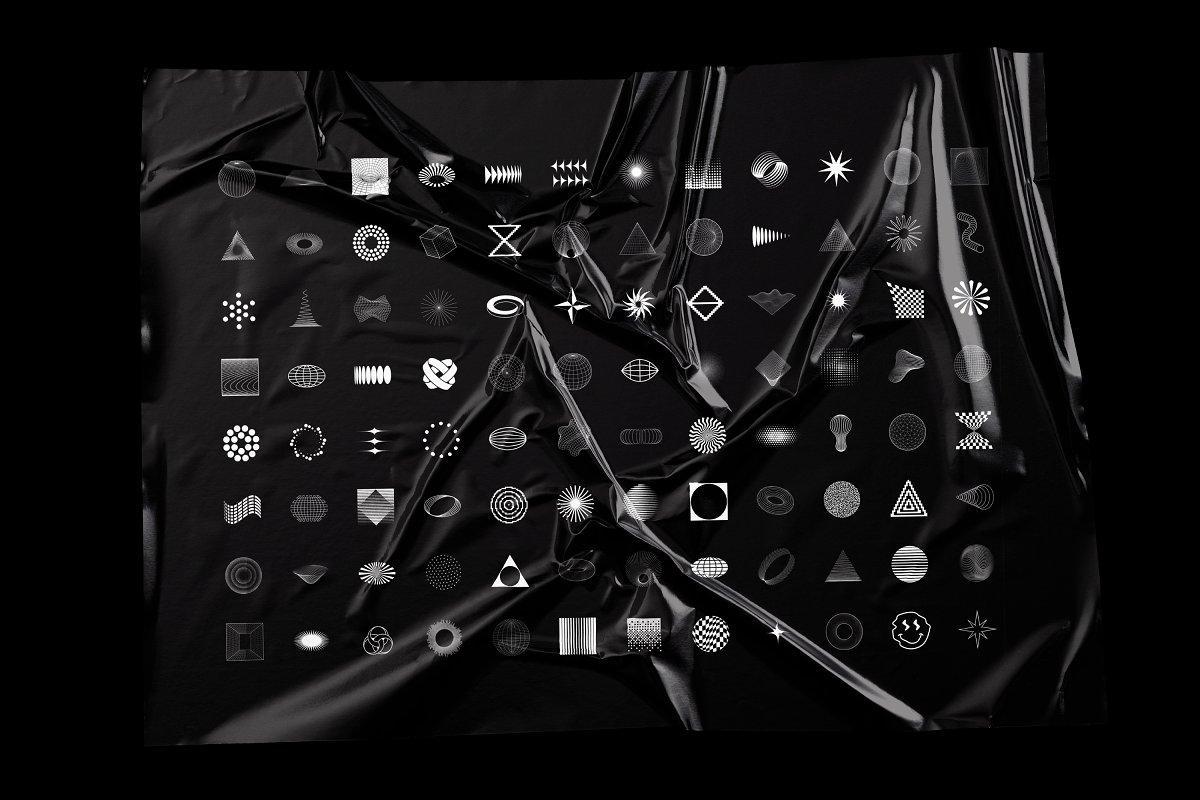 [淘宝购买] 100款潮流抽象矢量几何图形设计素材 Abstract Shapes: 100 Design Elements插图(1)