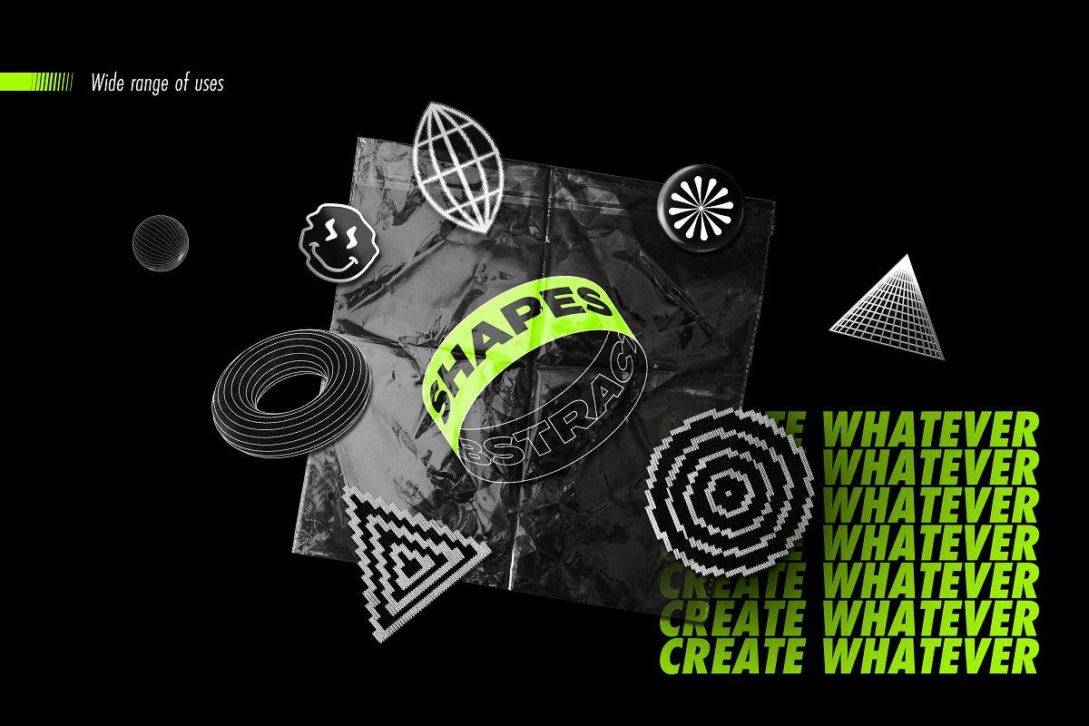[淘宝购买] 100款潮流抽象矢量几何图形设计素材 Abstract Shapes: 100 Design Elements插图(2)