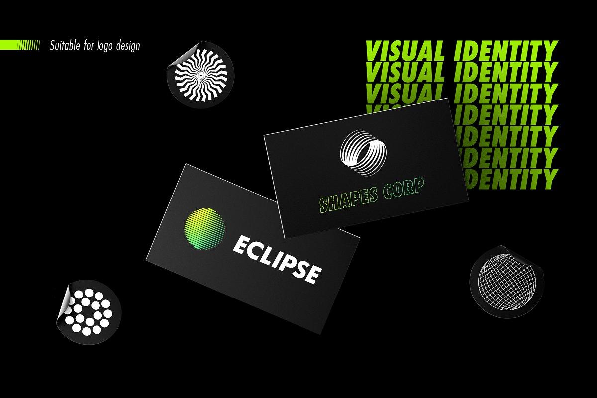 [淘宝购买] 100款潮流抽象矢量几何图形设计素材 Abstract Shapes: 100 Design Elements插图(6)