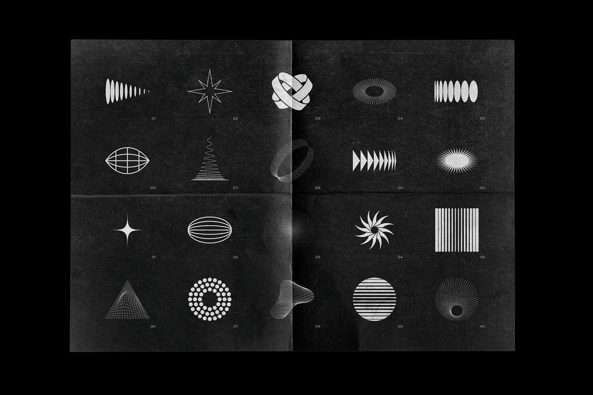 [淘宝购买] 100款潮流抽象矢量几何图形设计素材 Abstract Shapes: 100 Design Elements插图(7)