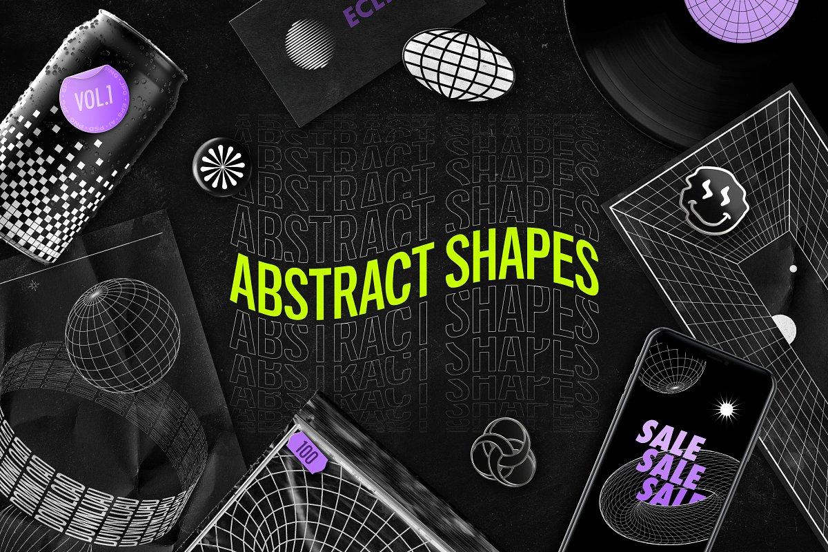 [淘宝购买] 100款潮流抽象矢量几何图形设计素材 Abstract Shapes: 100 Design Elements插图(18)