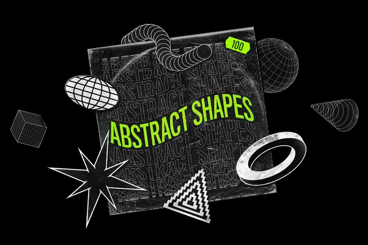 [淘宝购买] 100款潮流抽象矢量几何图形设计素材 Abstract Shapes: 100 Design Elements插图
