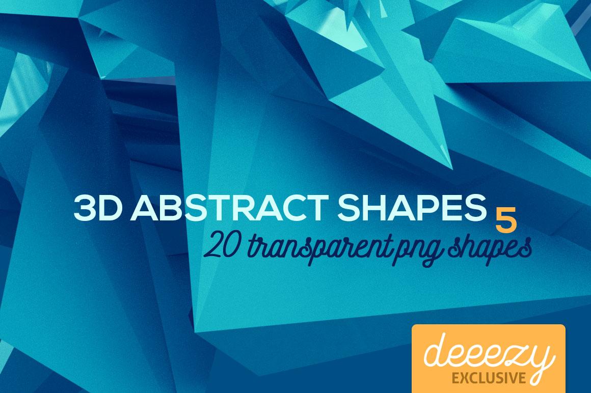20个创意抽象科幻几何3D图形纹理素材 3D Abstract Shapes 5插图