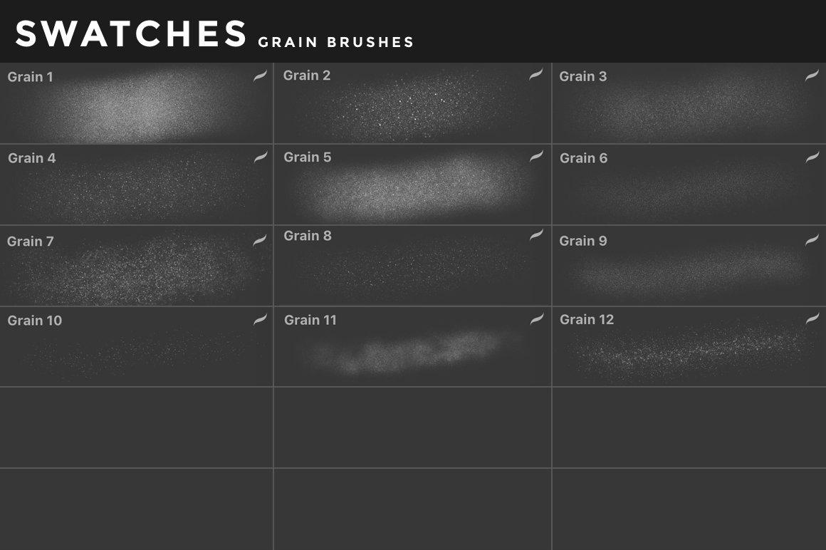 [淘宝购买] 400多款绘画画笔iPad Procreate笔刷套装 Procreate Brushes Bundle插图(13)