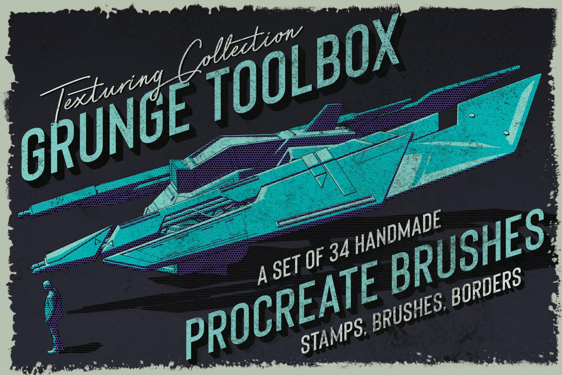 [淘宝购买] 400多款绘画画笔iPad Procreate笔刷套装 Procreate Brushes Bundle插图(16)