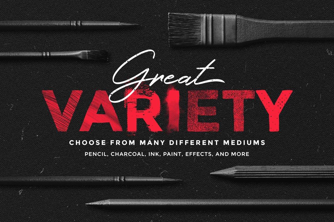 [淘宝购买] 400多款绘画画笔iPad Procreate笔刷套装 Procreate Brushes Bundle插图(1)
