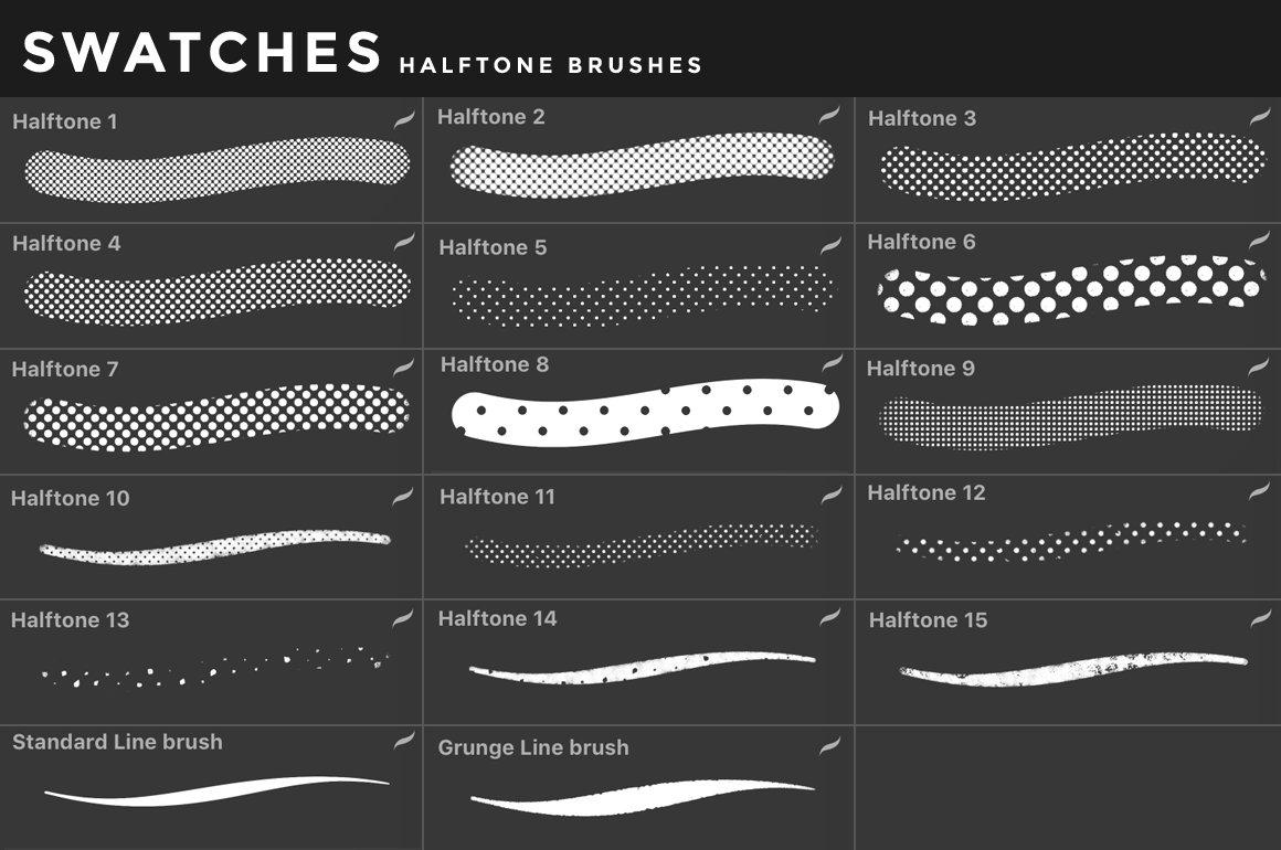 [淘宝购买] 400多款绘画画笔iPad Procreate笔刷套装 Procreate Brushes Bundle插图(21)