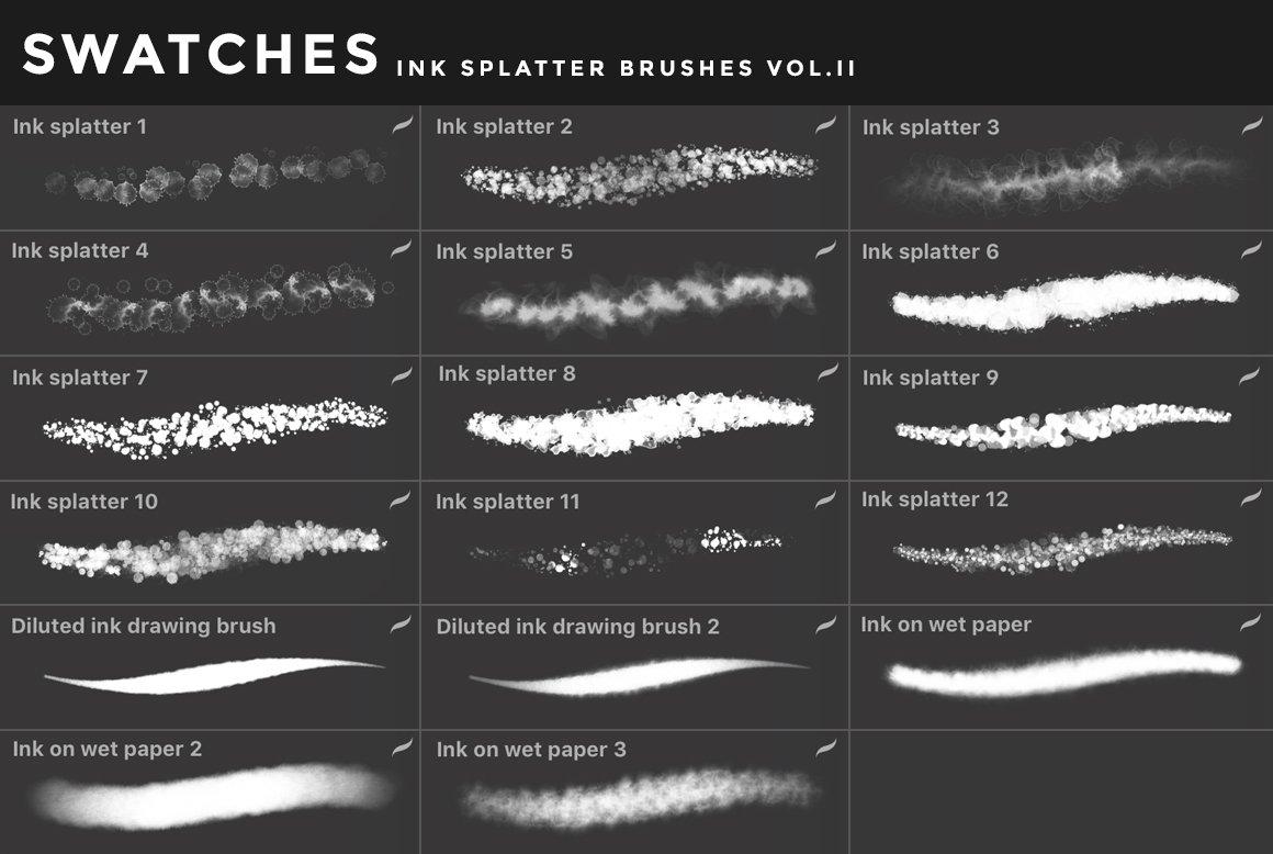 [淘宝购买] 400多款绘画画笔iPad Procreate笔刷套装 Procreate Brushes Bundle插图(27)