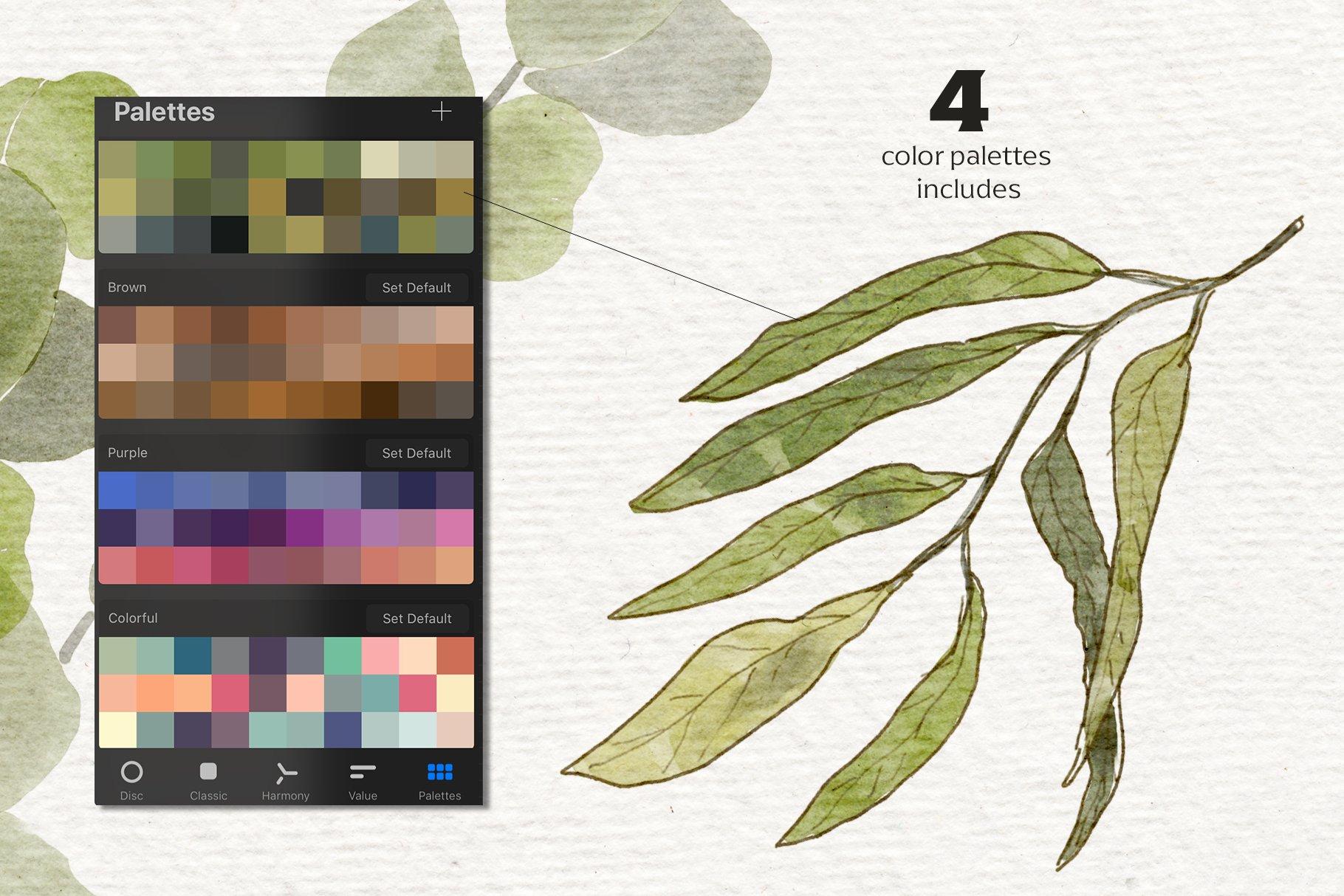 14款水彩铅笔Procreate笔刷包 Watercolor & Pencil Procreate brushes插图(2)
