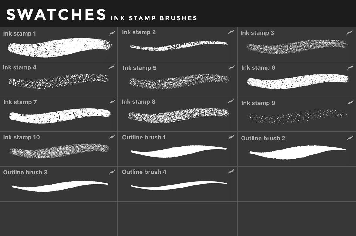 [淘宝购买] 400多款绘画画笔iPad Procreate笔刷套装 Procreate Brushes Bundle插图(29)