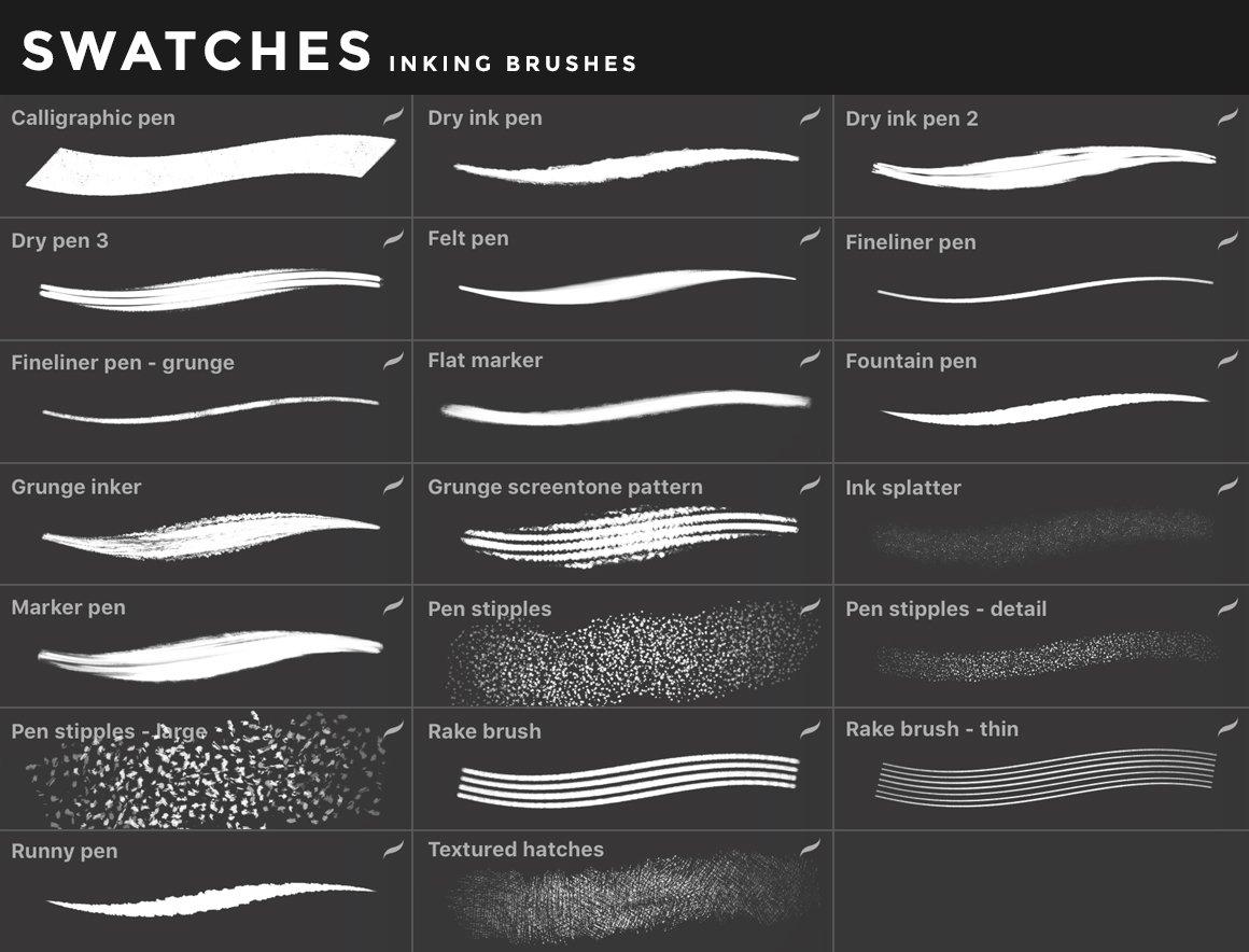[淘宝购买] 400多款绘画画笔iPad Procreate笔刷套装 Procreate Brushes Bundle插图(33)