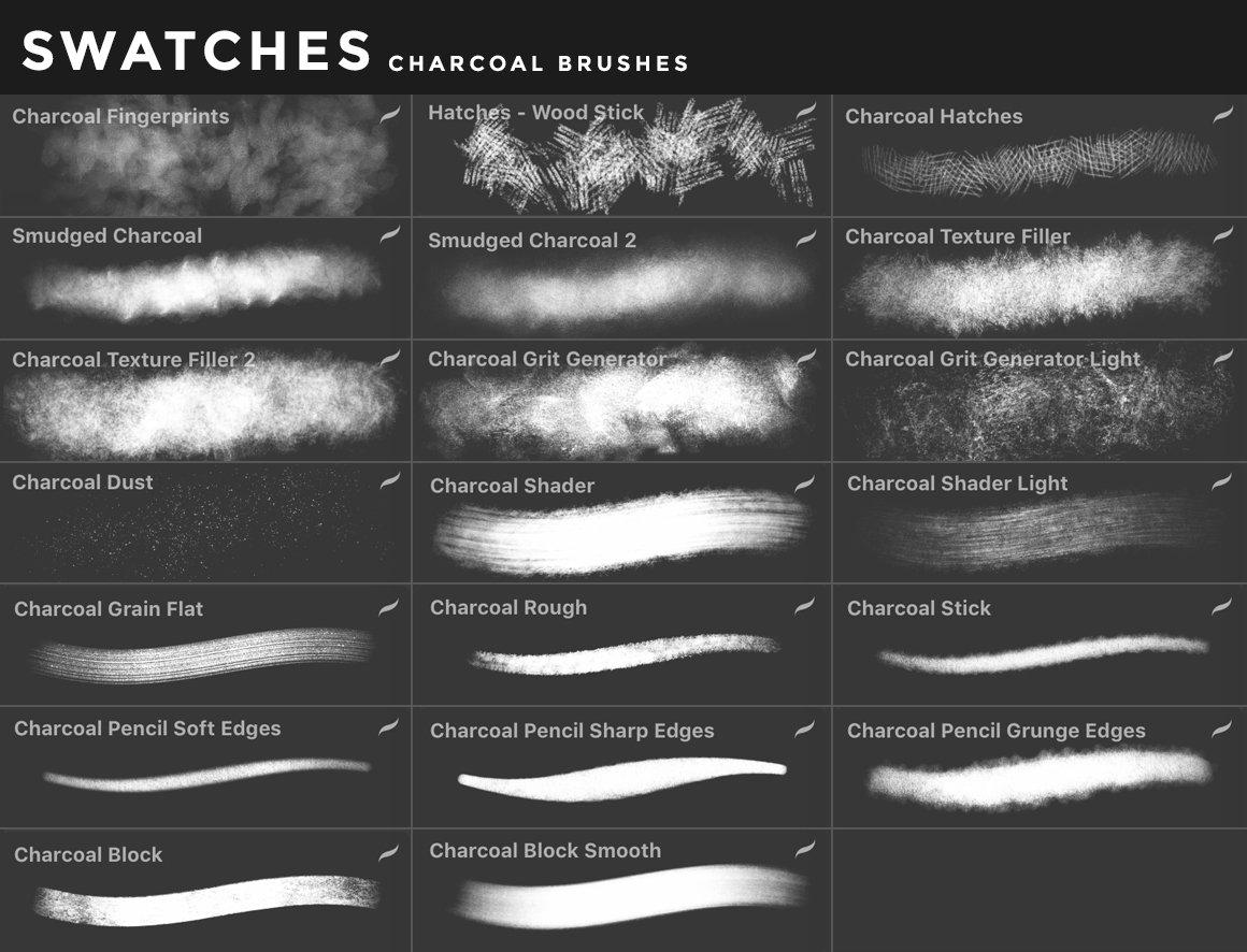 [淘宝购买] 400多款绘画画笔iPad Procreate笔刷套装 Procreate Brushes Bundle插图(3)