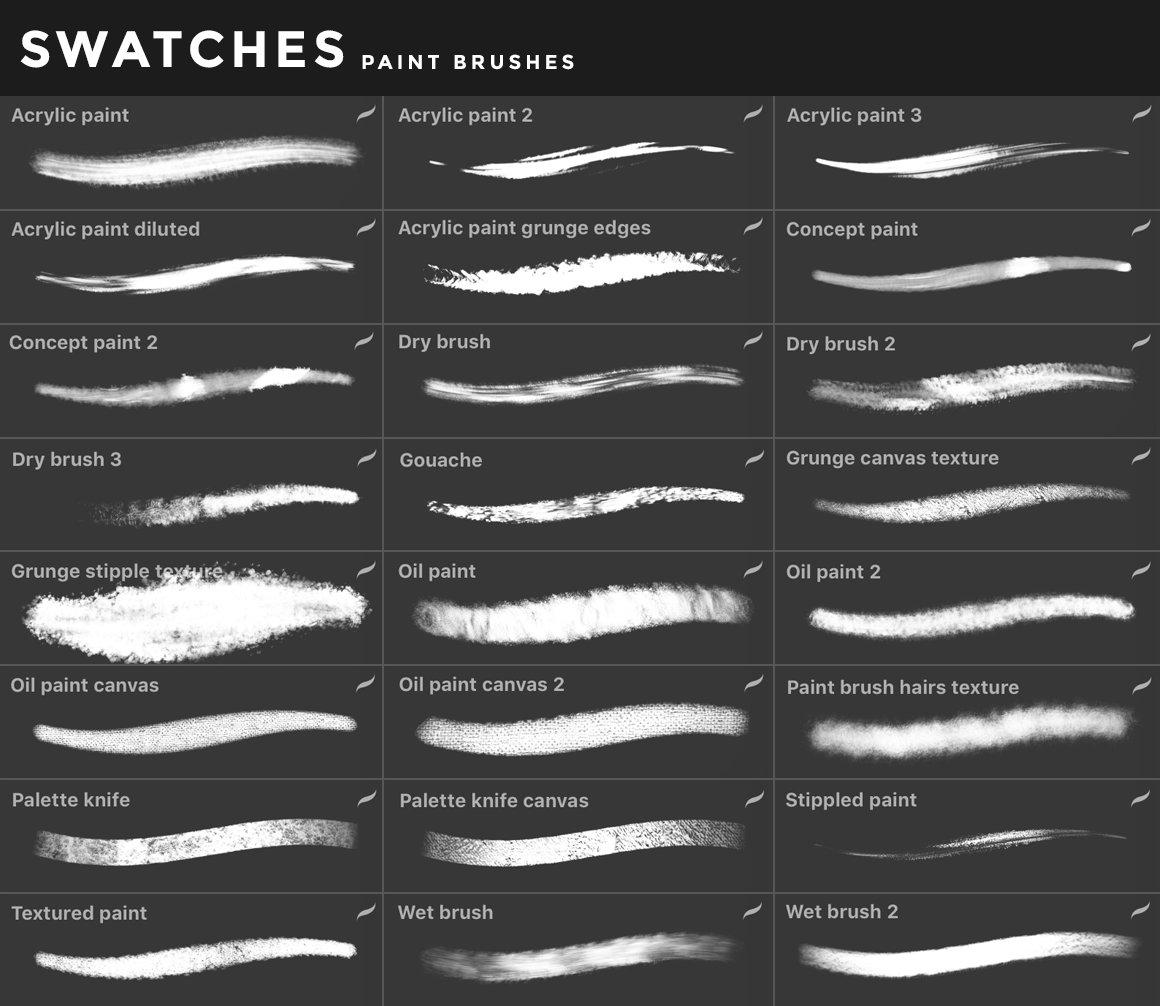 [淘宝购买] 400多款绘画画笔iPad Procreate笔刷套装 Procreate Brushes Bundle插图(43)