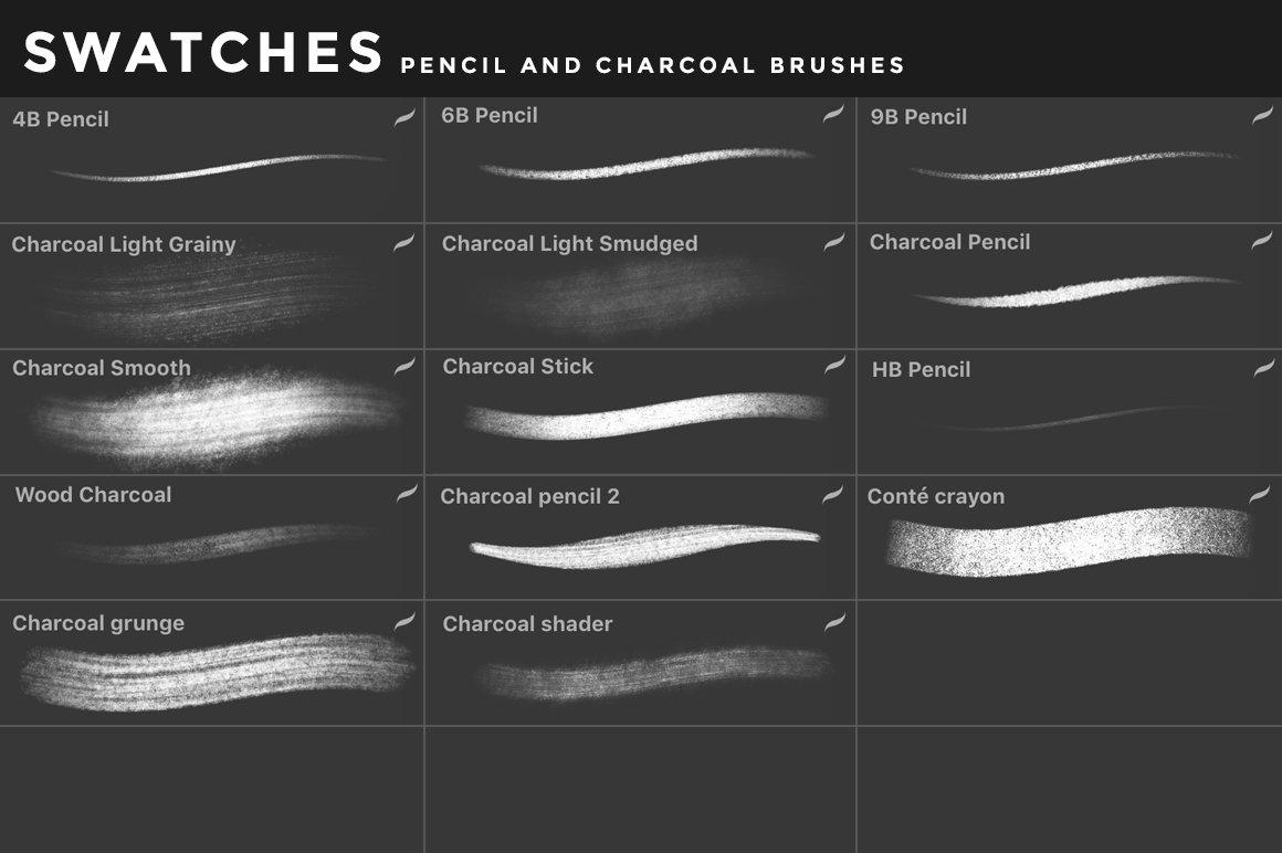 [淘宝购买] 400多款绘画画笔iPad Procreate笔刷套装 Procreate Brushes Bundle插图(47)