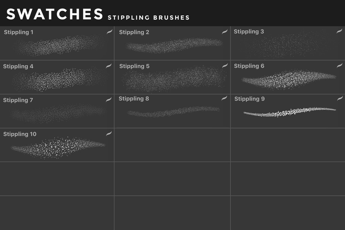 [淘宝购买] 400多款绘画画笔iPad Procreate笔刷套装 Procreate Brushes Bundle插图(57)