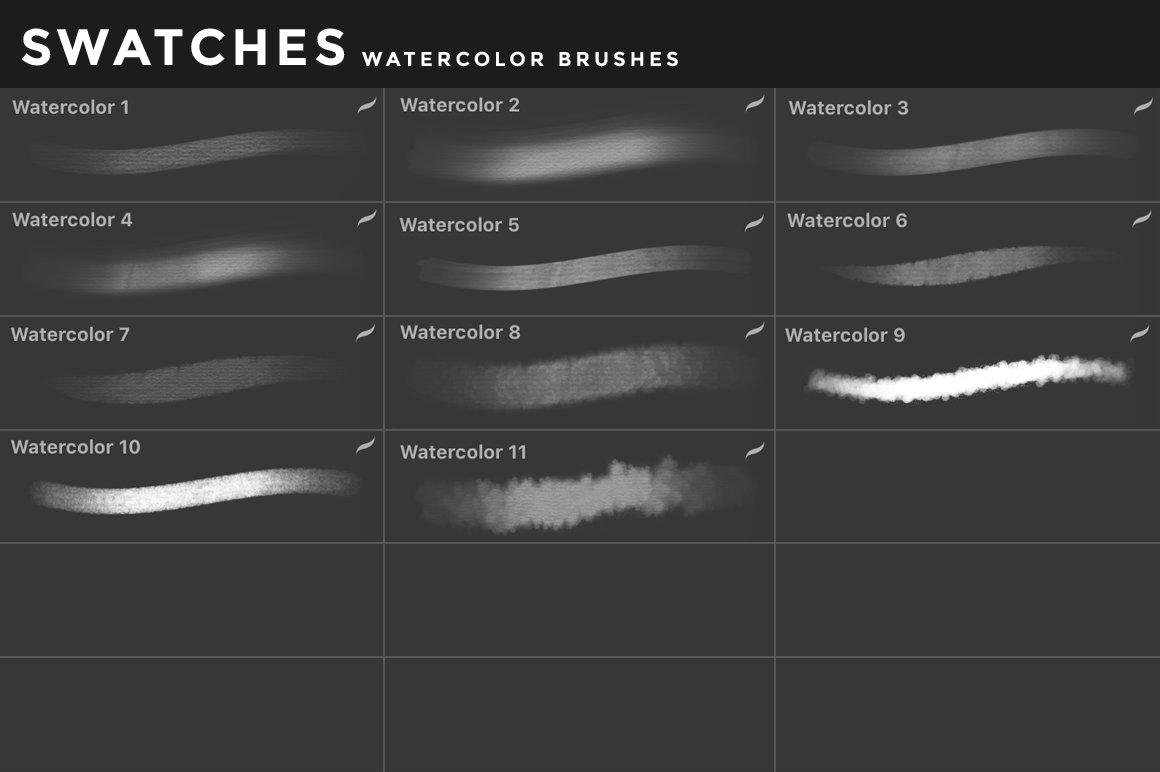 [淘宝购买] 400多款绘画画笔iPad Procreate笔刷套装 Procreate Brushes Bundle插图(59)