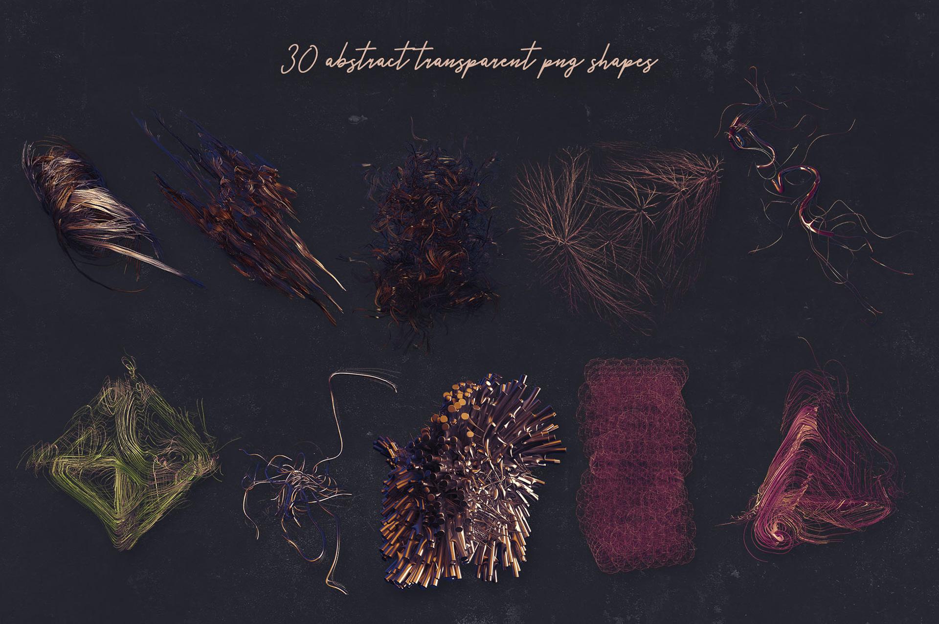 30个创意抽象科幻3D图形纹理素材 3D Abstract Shapes 15插图(7)