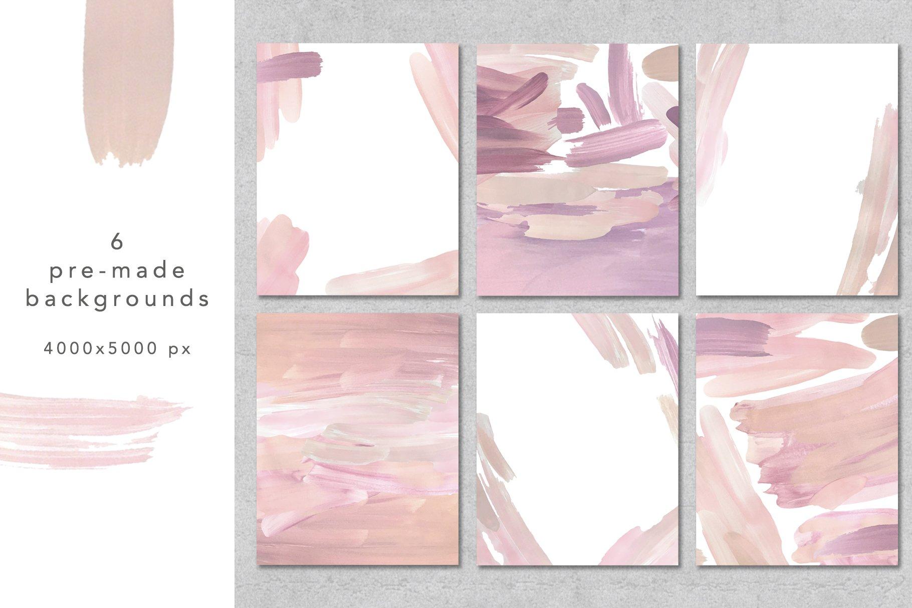 18个粉色画笔笔刷PNG纹理素材 PINK Textures Vol.1插图(7)