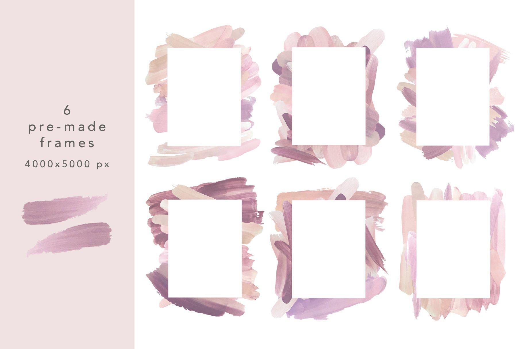 18个粉色画笔笔刷PNG纹理素材 PINK Textures Vol.1插图(8)