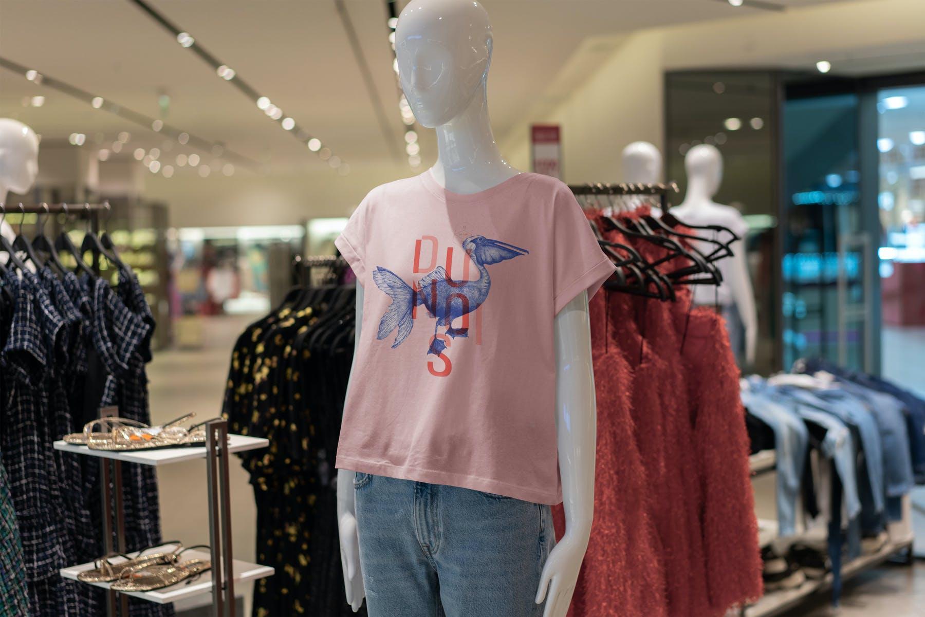 10款T恤半袖衫PSD样机模板 T-Shirt Shopping Mockup Vol.2插图(9)