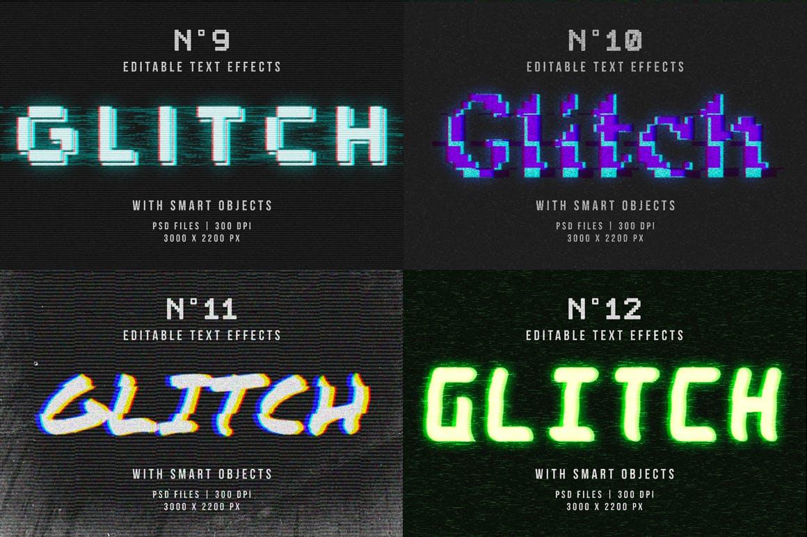 16个故障风文字图层样式模板 Photoshop Glitch Text Effects插图(13)